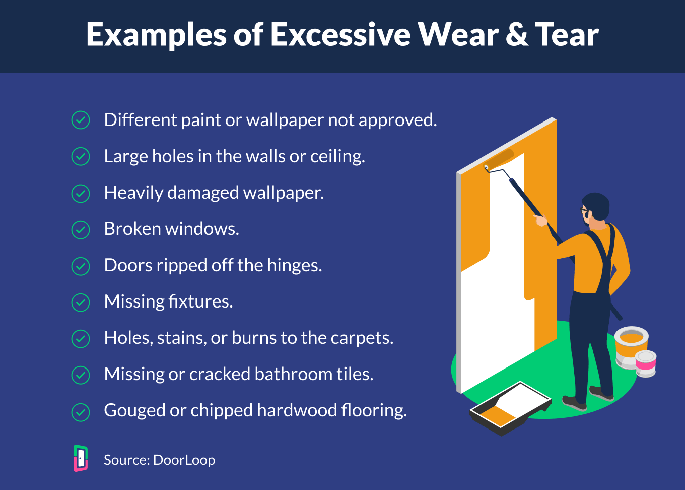 excessive wear and tear examples