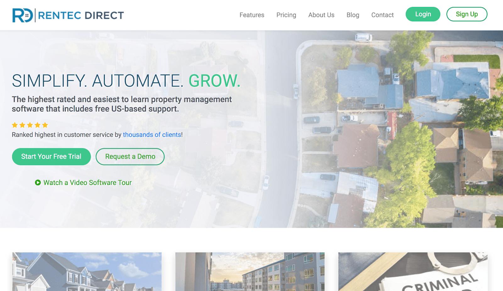 Rentec Direct Management software