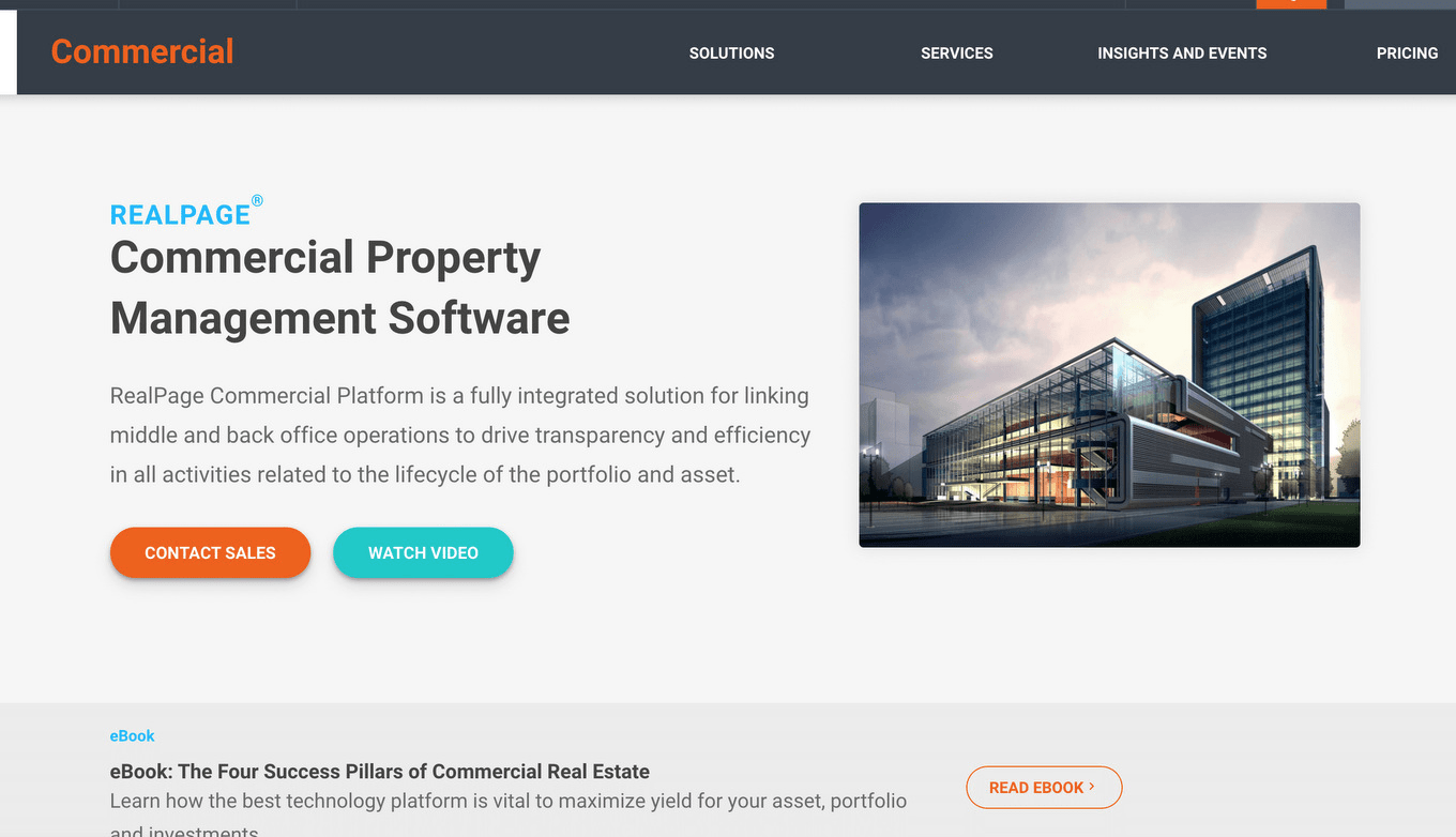RealPage commercial property management system