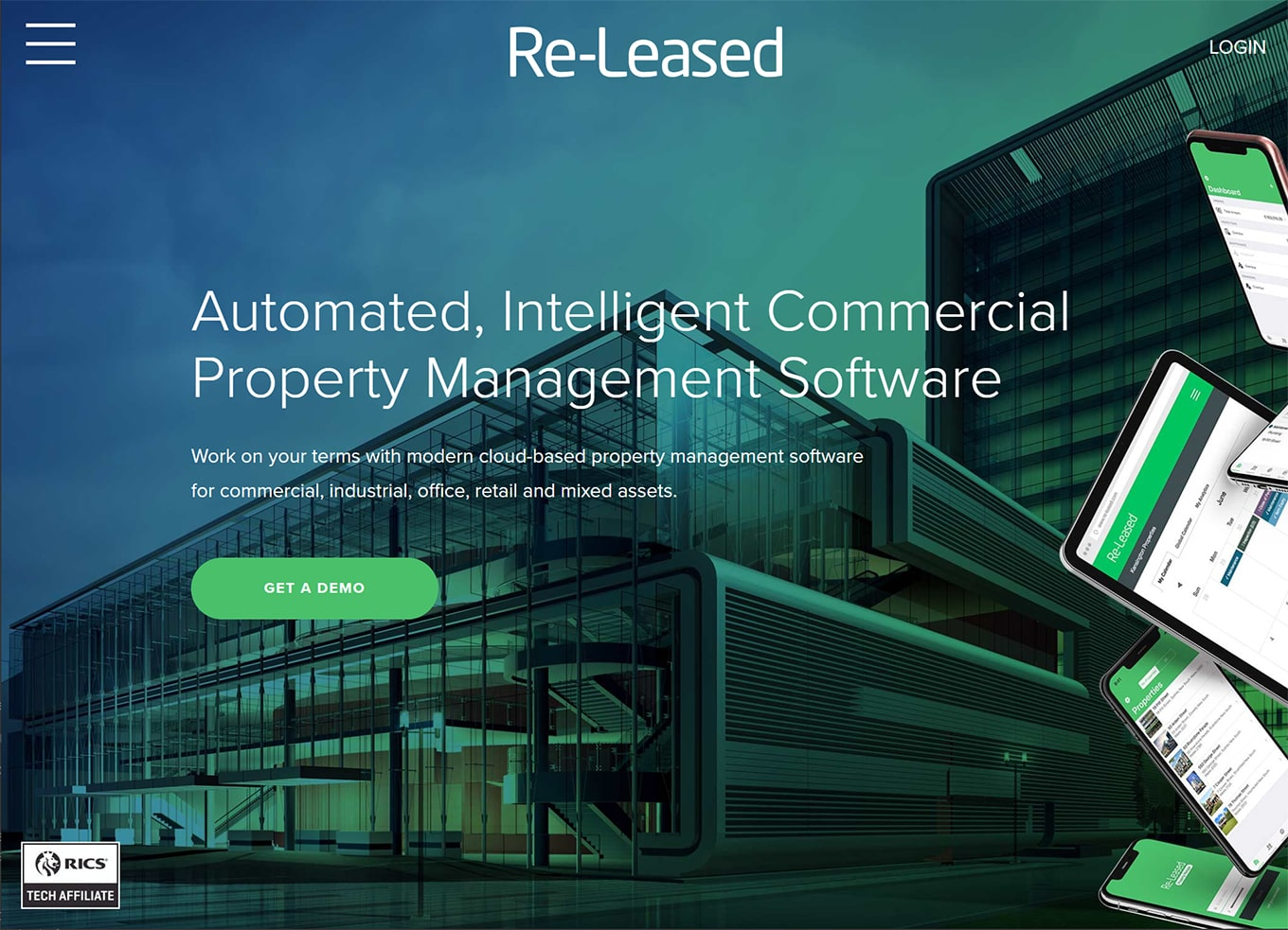 re-leased commercial property management software