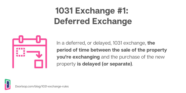 1031 deferred exchange