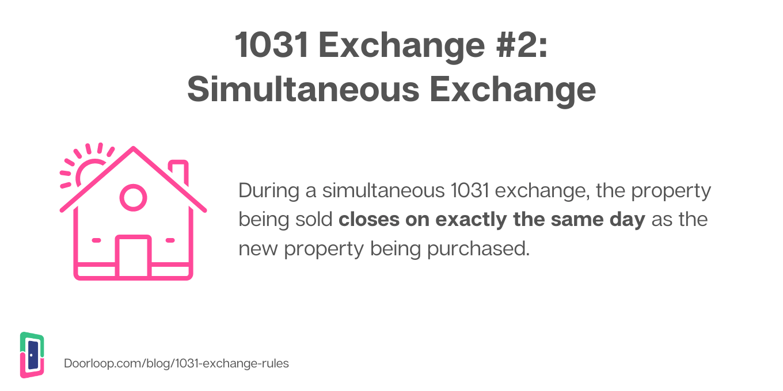 simultaneous exchange