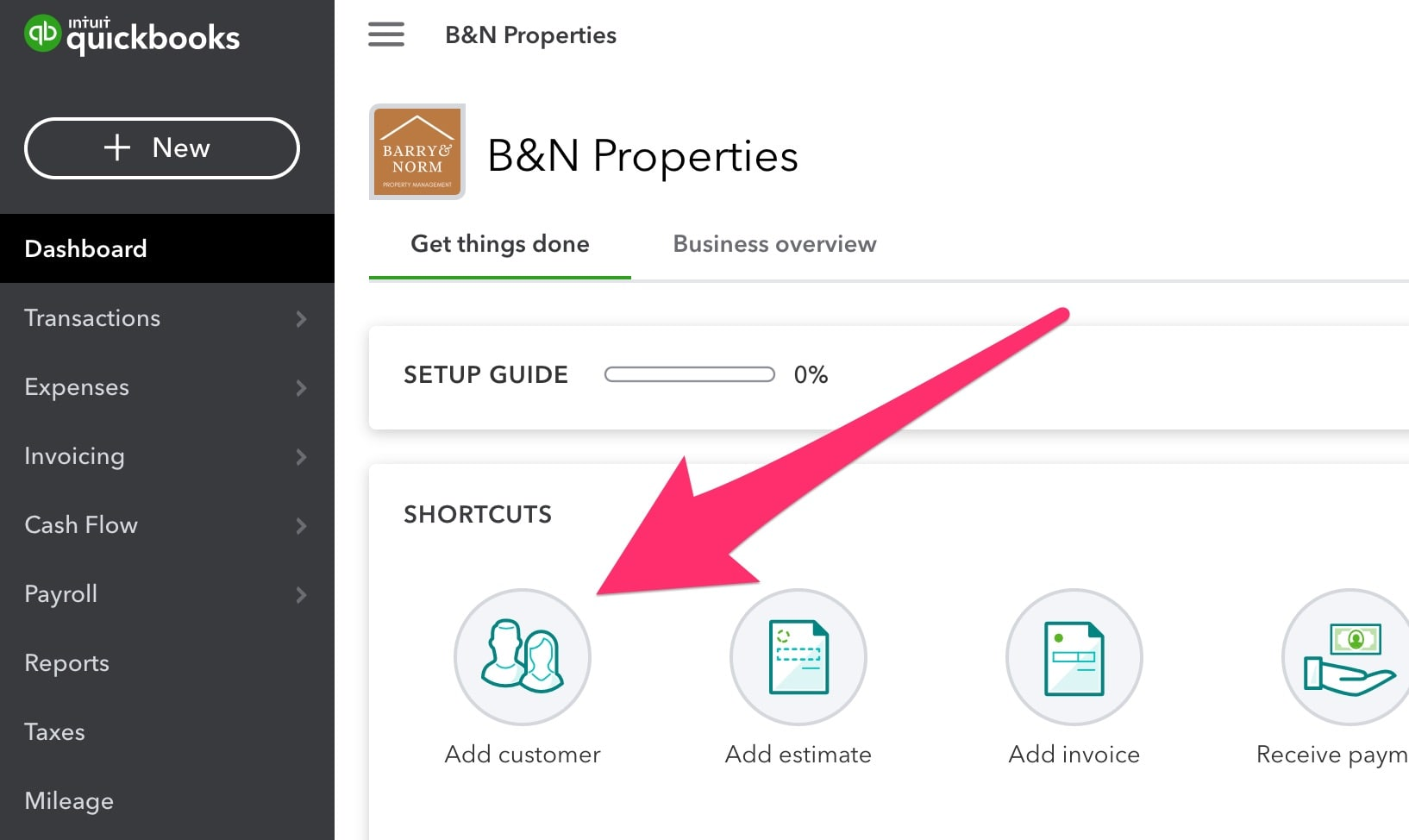 add customer in quickbooks online