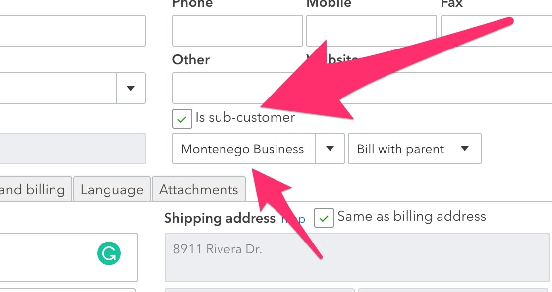 add sub-customer