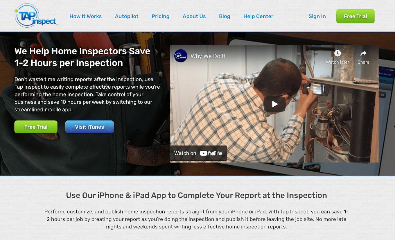 Tap Inspect