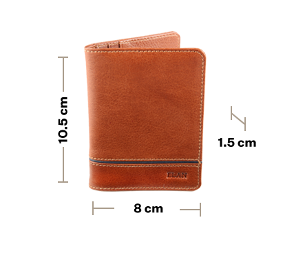 Leather Horizontal Card Holder with Band