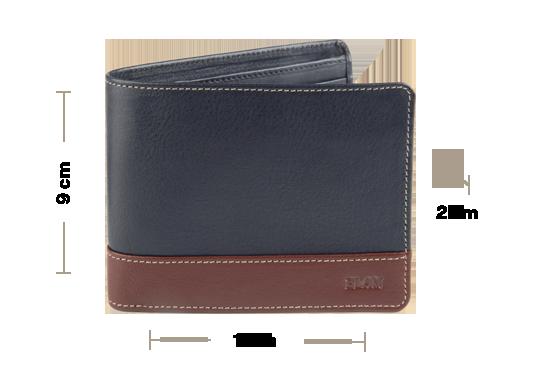Leather Bifold Zipper Coin Wallet