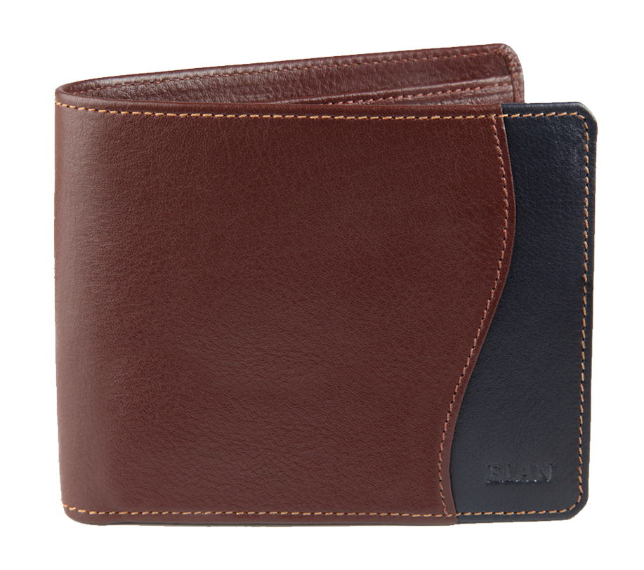 Leather Card Wallet With Flap