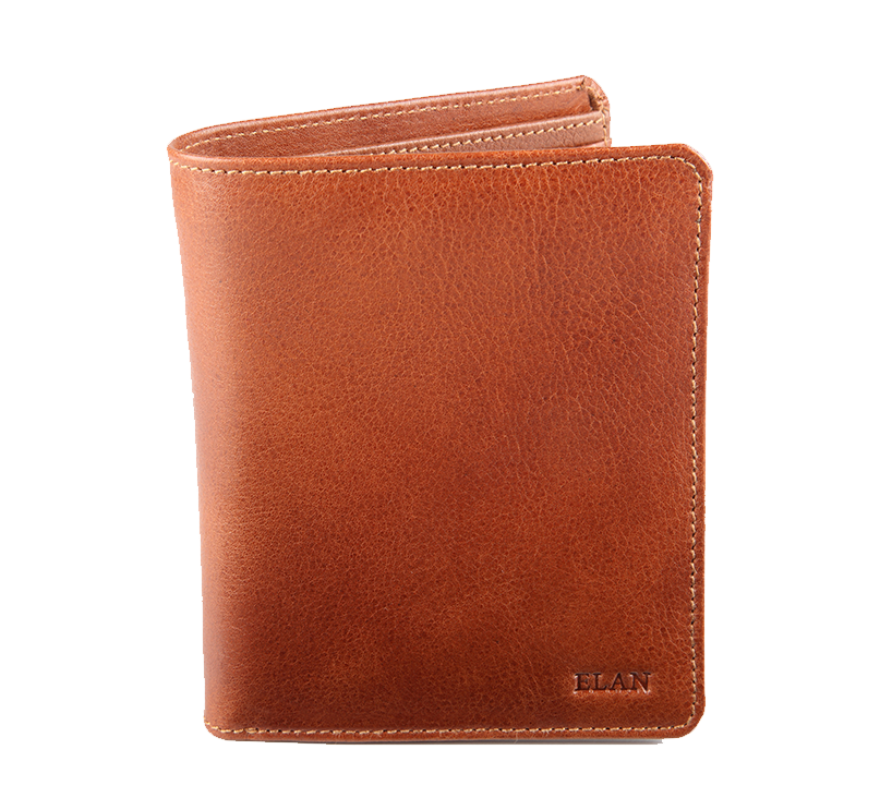 Leather Vertical Flap Wallet