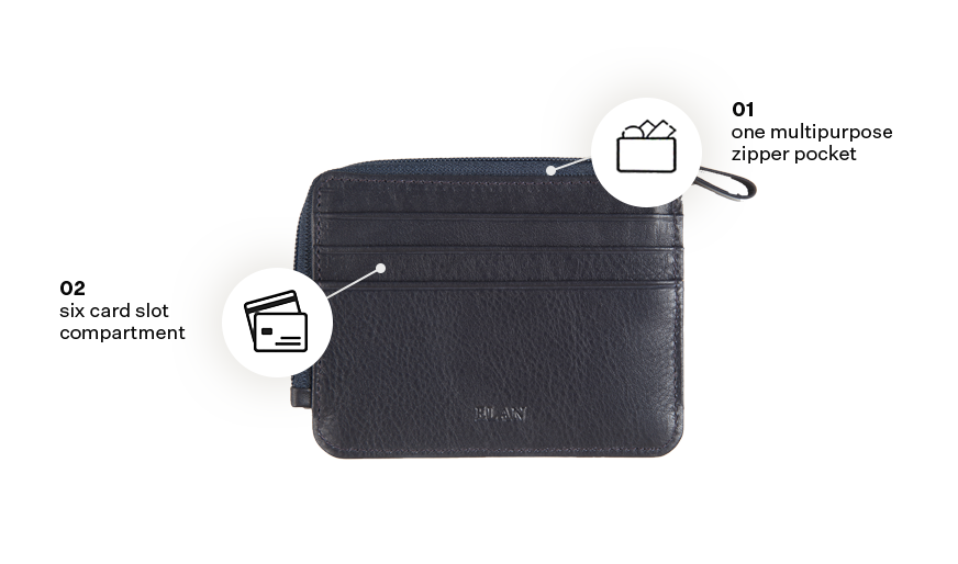 Classic Leather Card Holder with Zipper