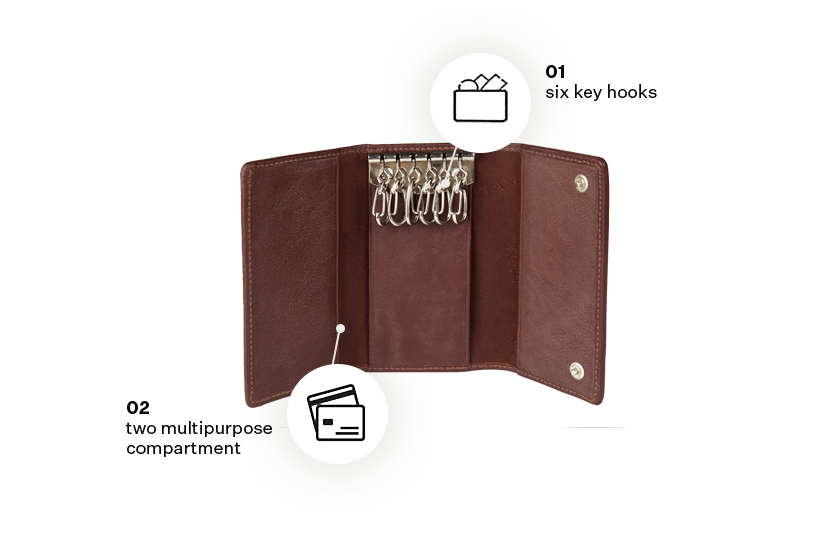 Classic Leather Slim Key Pouch