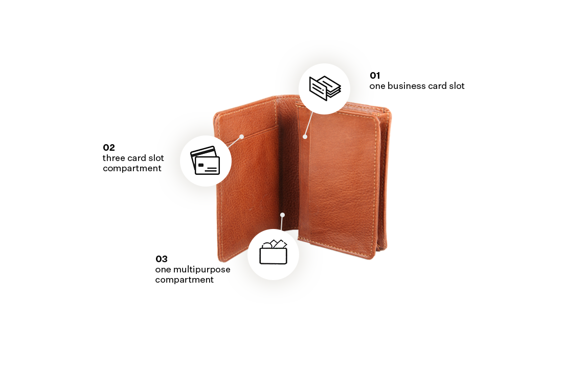 Leather Business Card Holder with Band