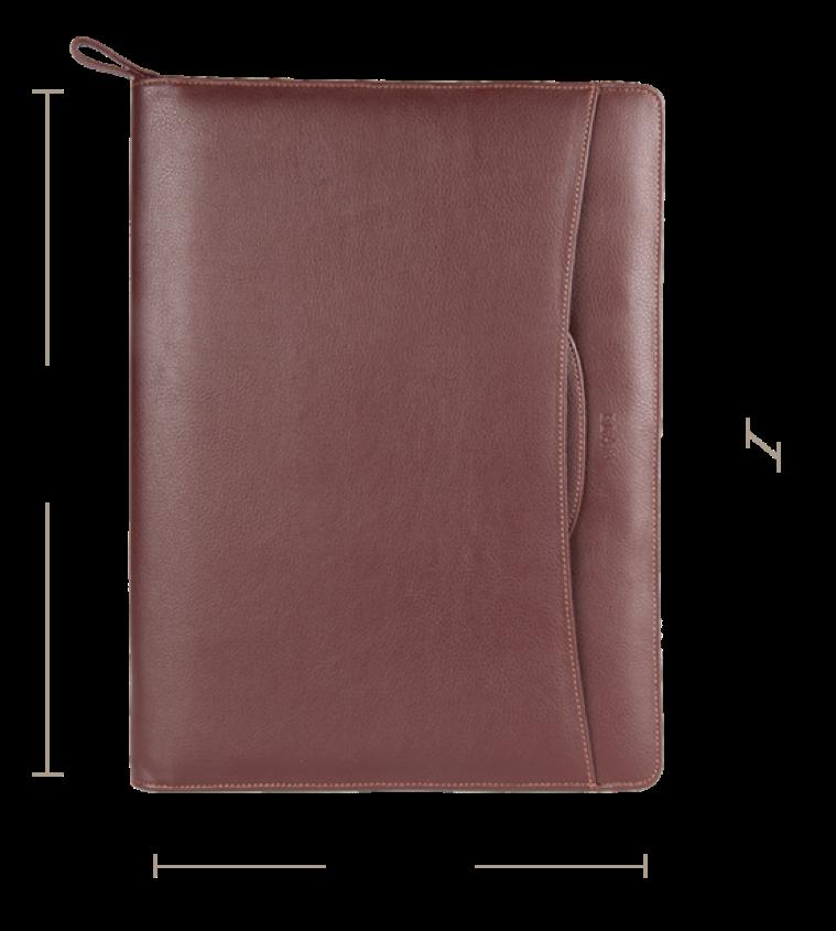 Foam Zip Around Folder with Handle