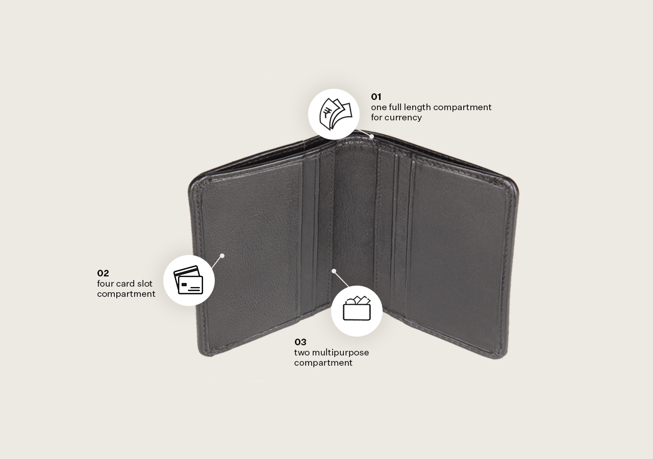 Executive Card Holder with Top Open