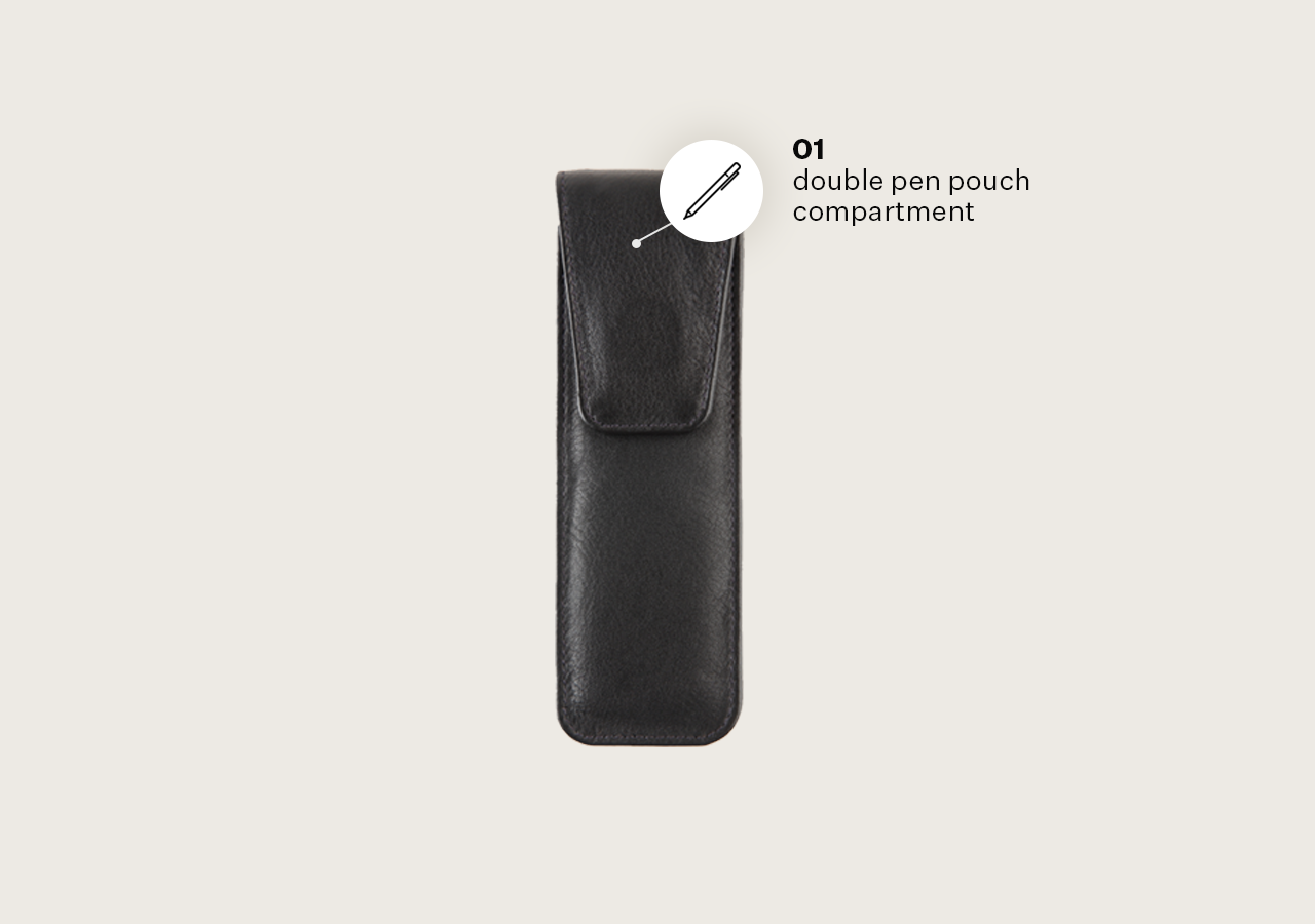 Leather Two Pen Pouch