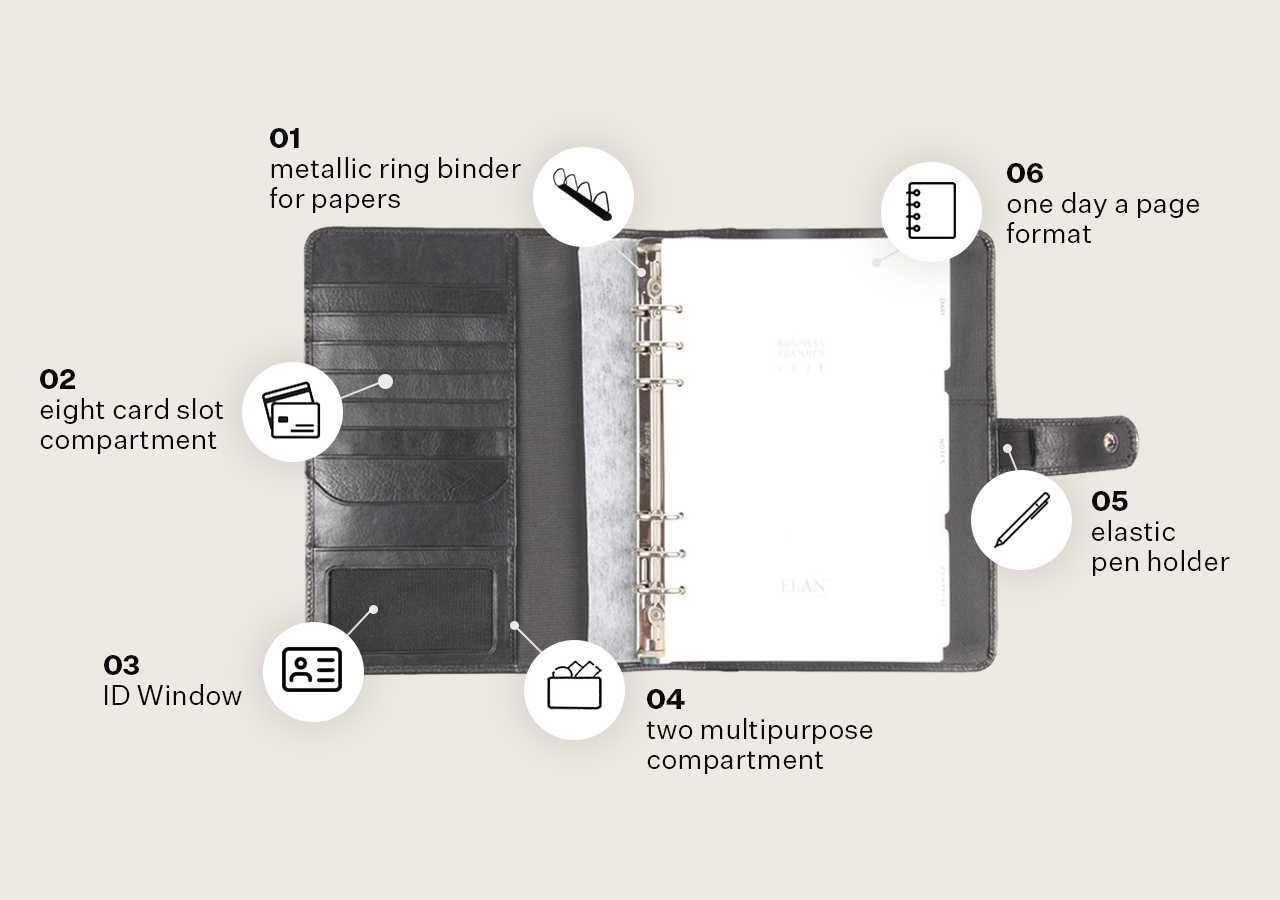 Leather Business Planners (Large)