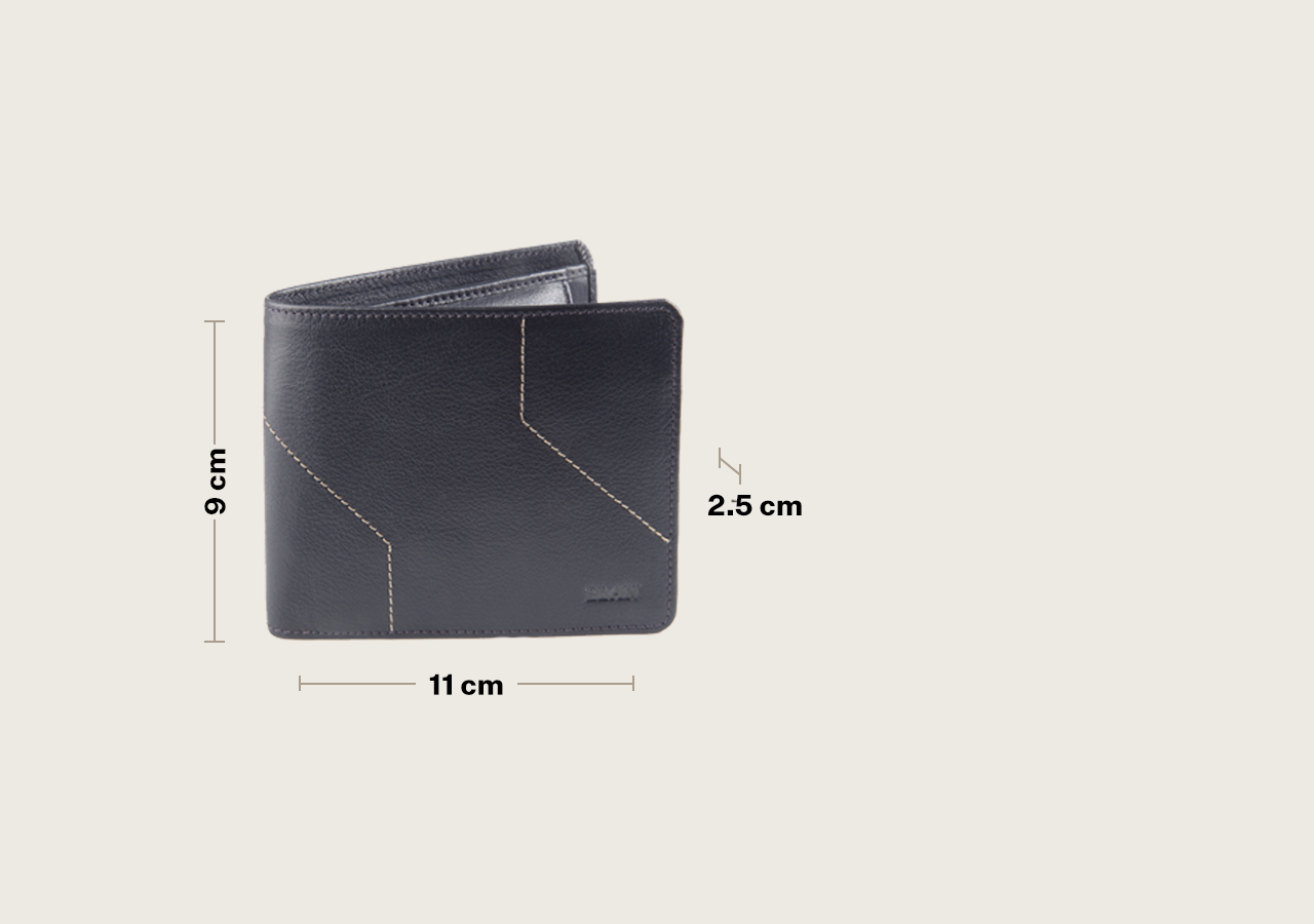 Leather Bifold Coin Pouch Wallet