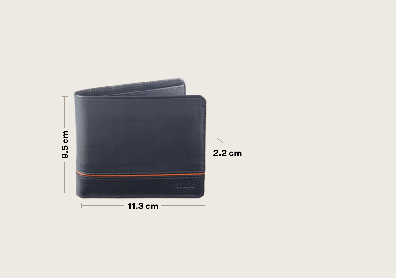 Leather Bifold Coin Pouch Flap Wallet with Band