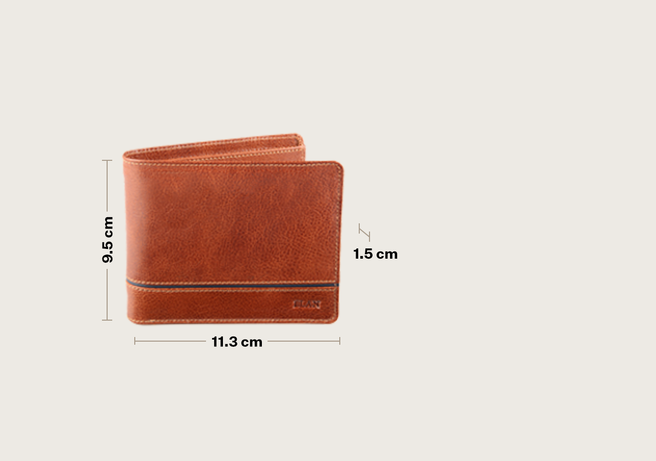 Leather Bifold Card Flap Wallet with Band