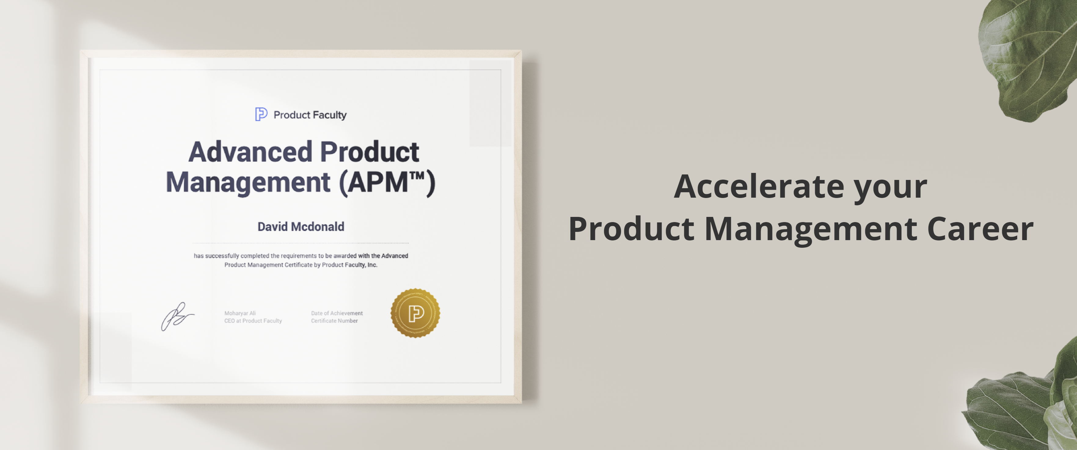 Product management certificate