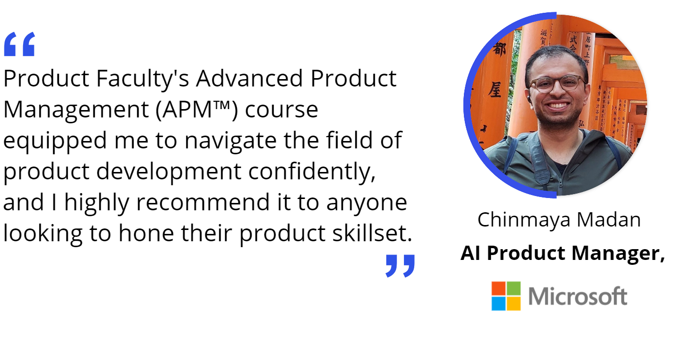 Review by Chinmaya Madan, AI Product Manager at Microsoft