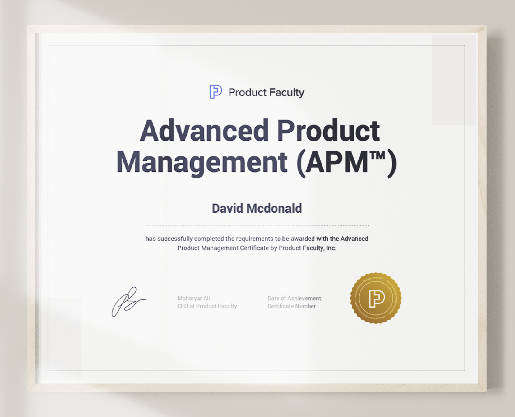 Advanced Product Management Certification   Product Faculty