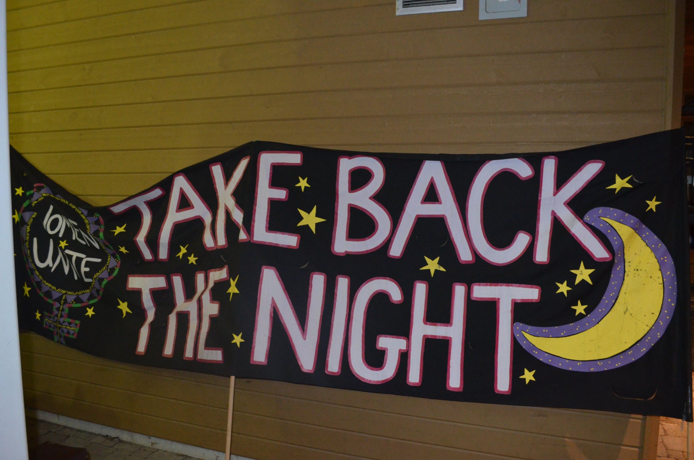 No More. Step Up. Speak Out. Take Back the Night.