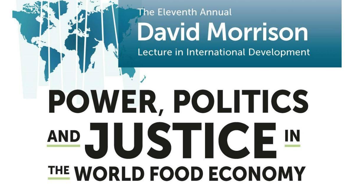 Annual David Morrison Lecture: World Food Economy