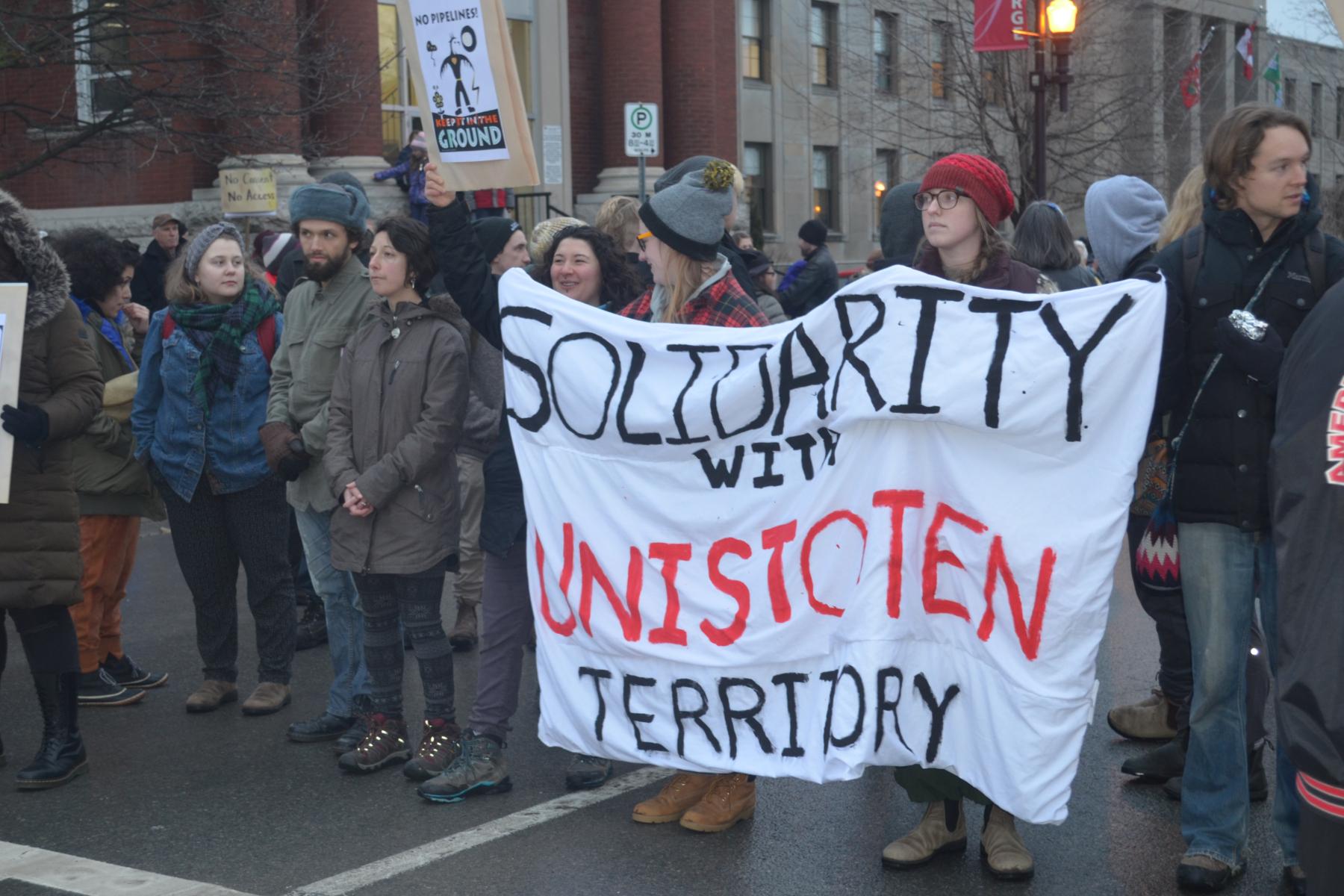 Peterborough-Nogojiwanong Shows Solidarity with Unist'ot'en, Gidimt'en clans and Wet'suwet'en Nation