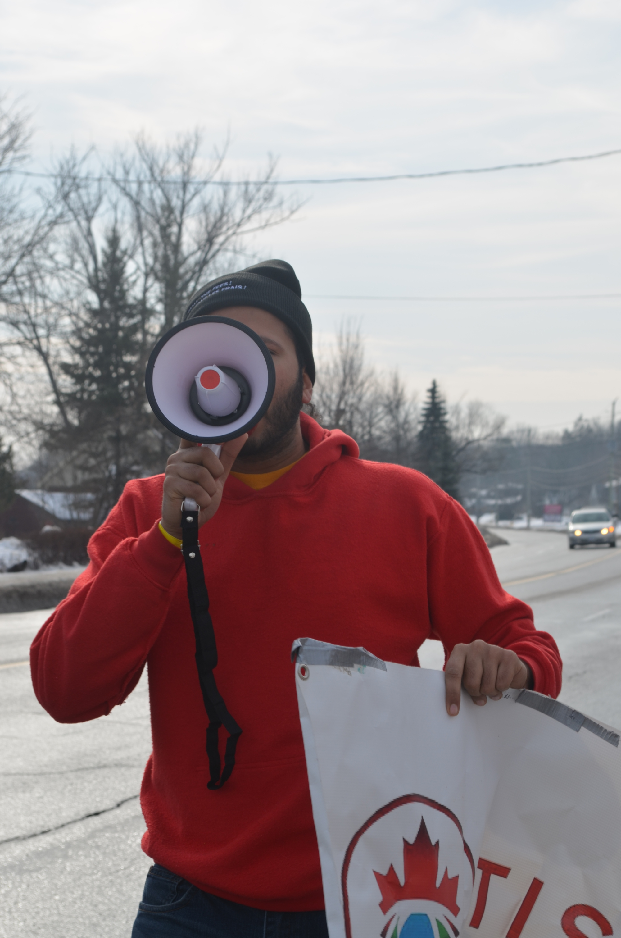 Students Bring Province-wide March for Student Rights to Peterborough-Nogojiwanong