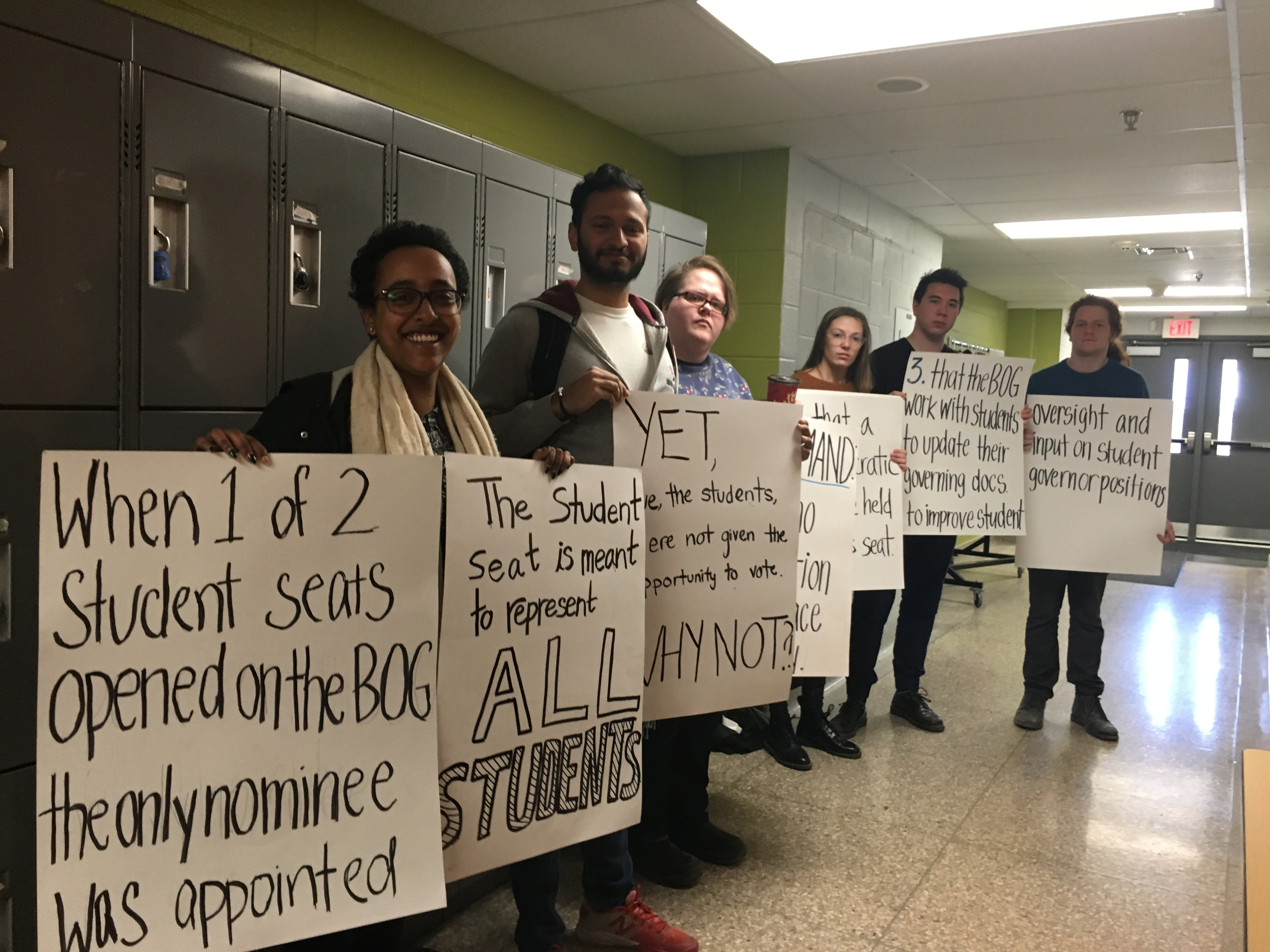 Silent Protest at Board of Governors Meeting