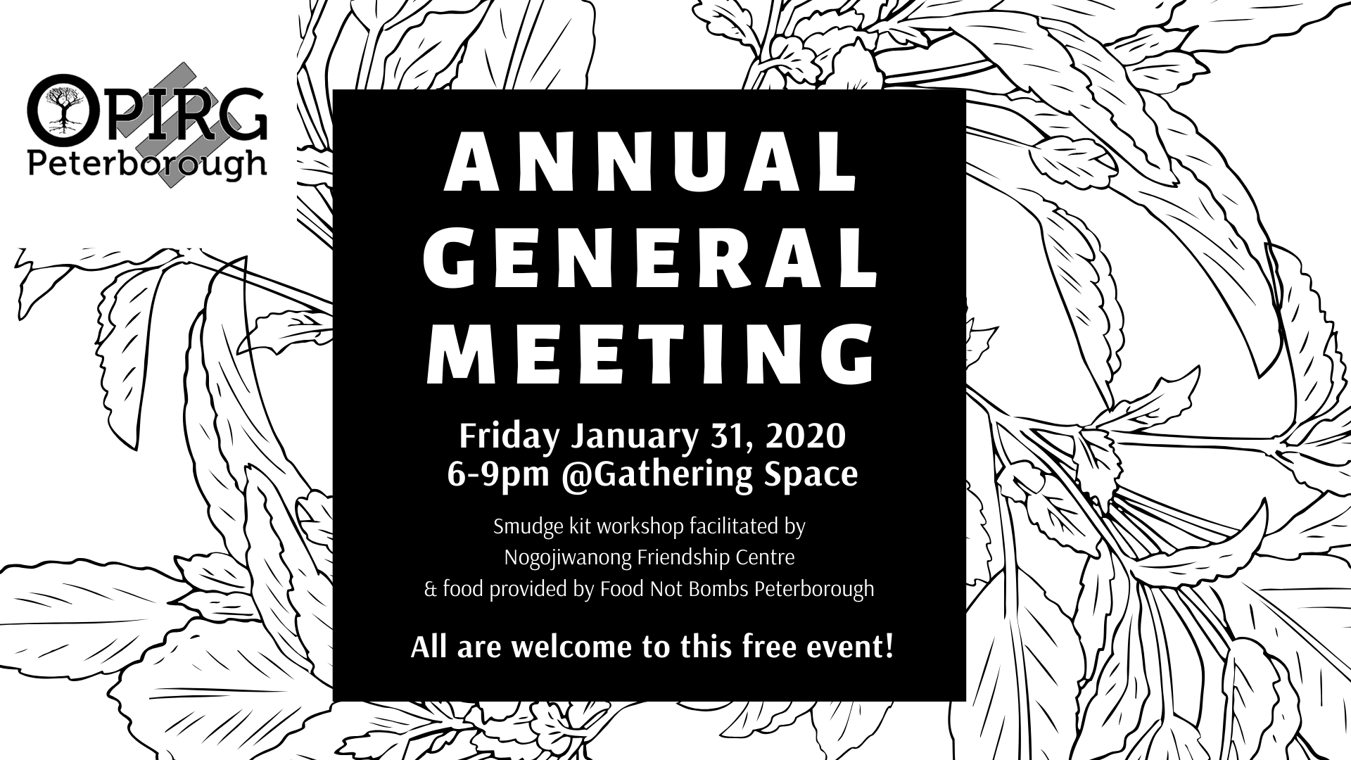 This Friday: OPIRG Peterborough's Annual General Meeting