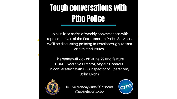 "CRRC Hosts First of Series of ""Tough Conversations with Peterborough Police"""