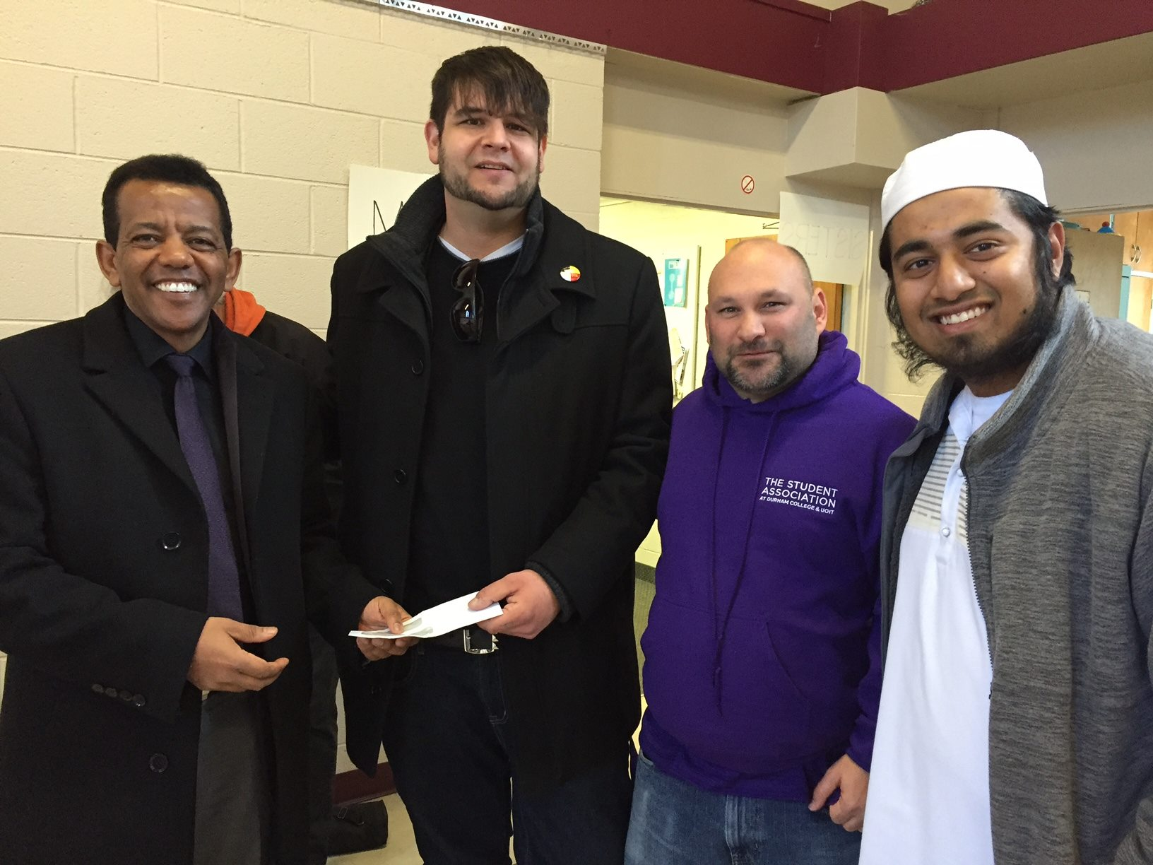 SA executive team donate $5,000 to Masjid Al-Salaam