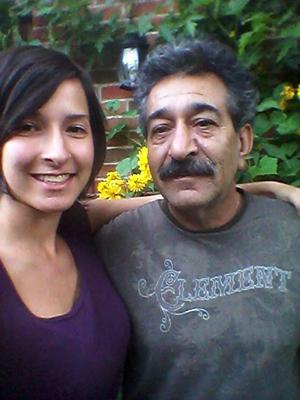 sara and her dad, iran