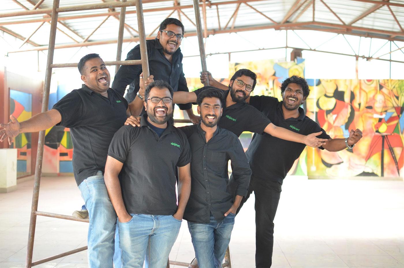 All Ninjacart Founders together   Thirukumaran Nagarajan, Vasudevan Chinnathambi, Ashutosh Vikram, Kartheeswaran KK, Sharath Babu Loganathan