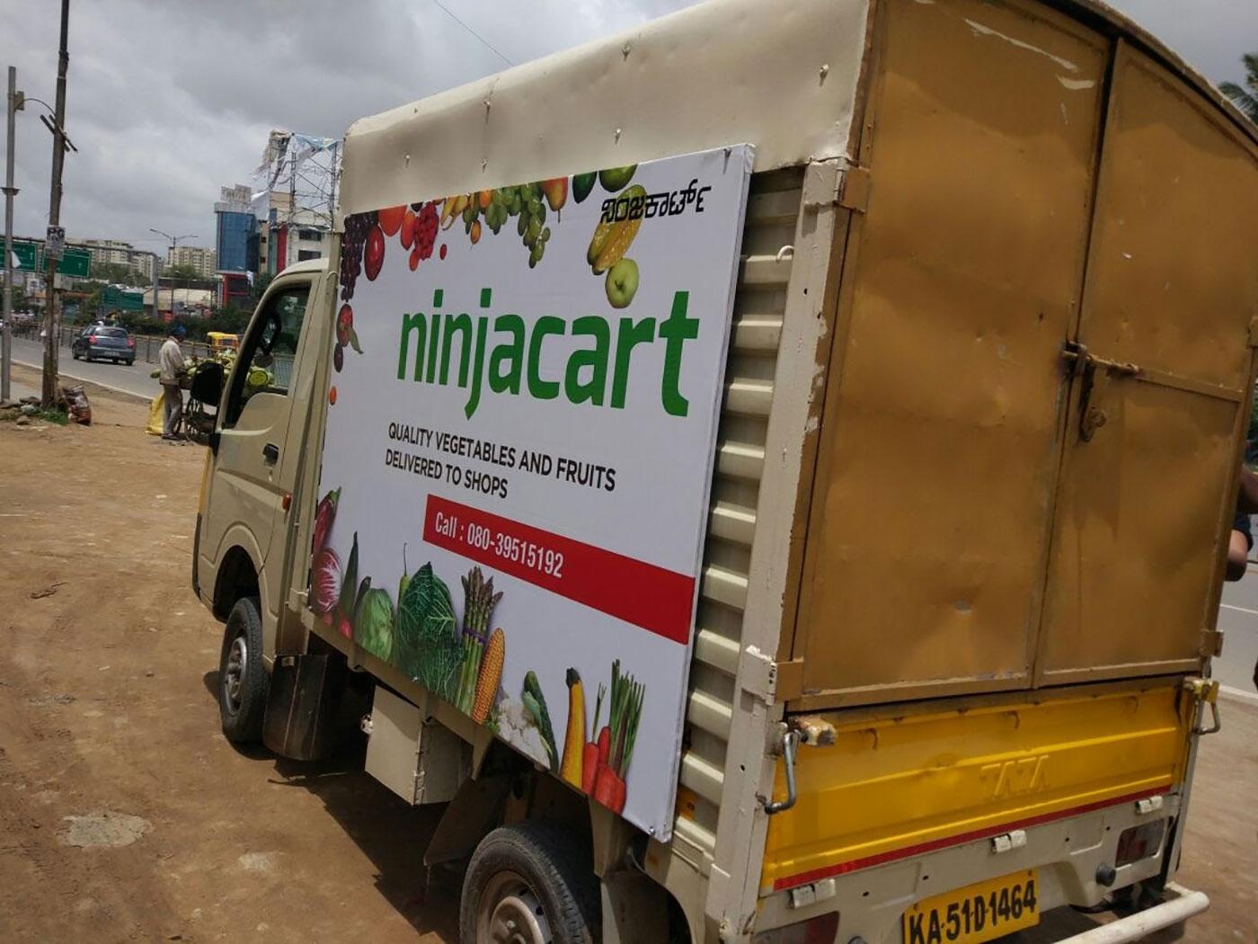 Ninjacart Delivery Van To Kirana Stores