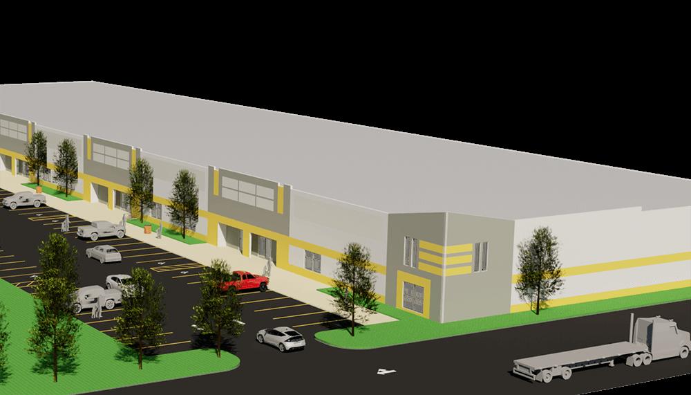 L6 Model, Lot 6, render, industrial warehouse building, Hebron, KY