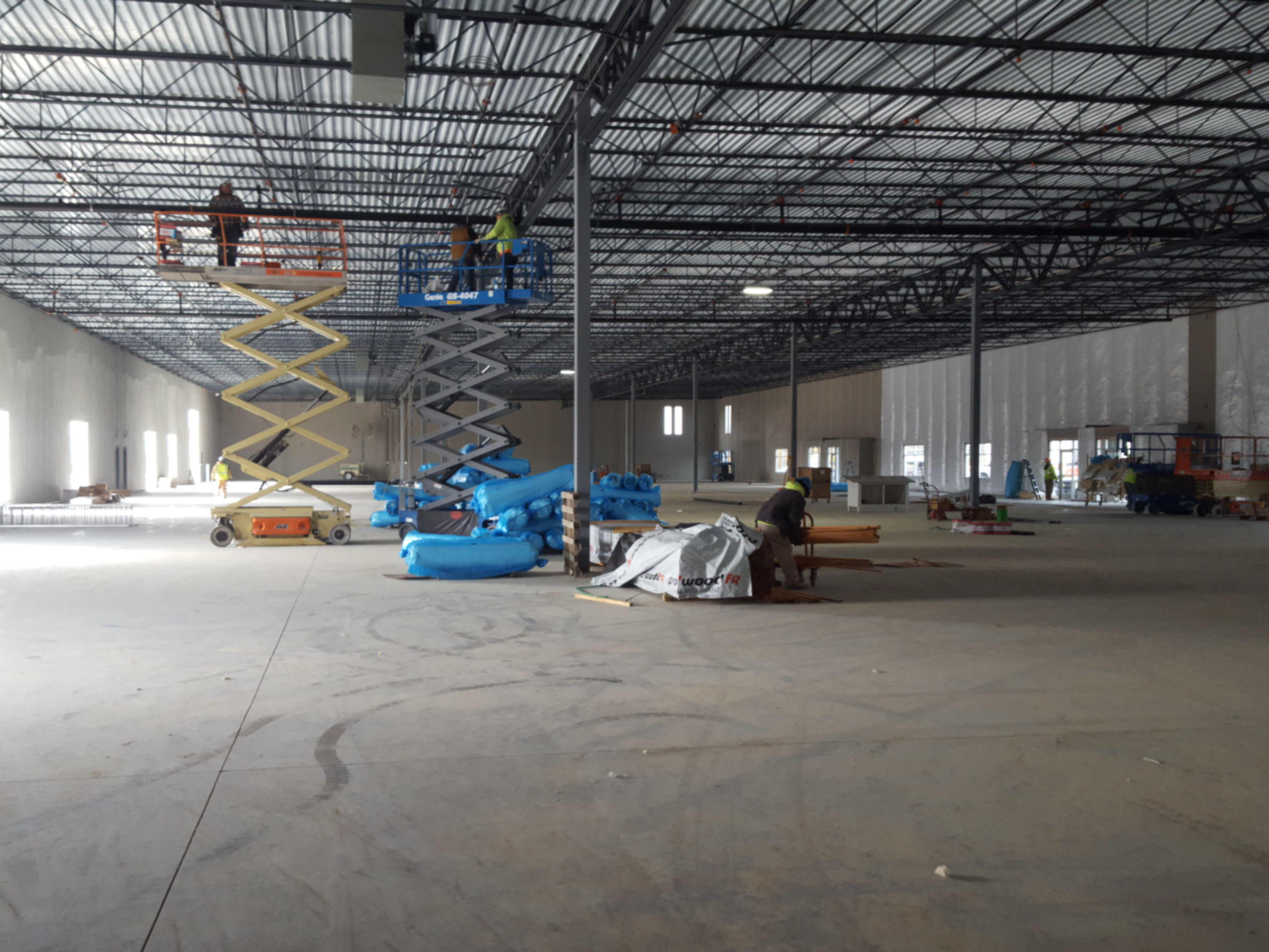 Lot 6, interior, last mile delivery, industrial warehouse building, Hebron, KY