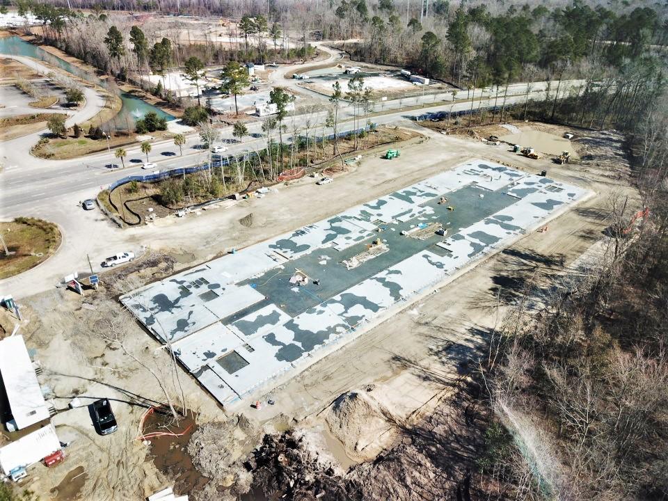 Triad - Tilt up industrial concrete pour
