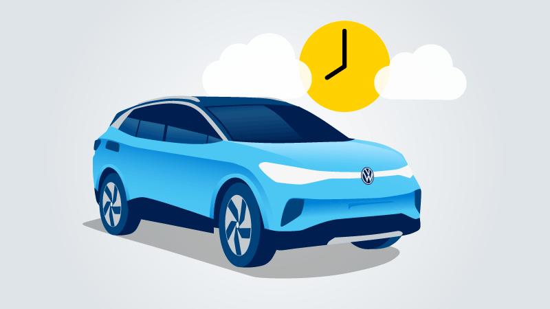 Bis zur geplanten Abfahrtszeit ist ihr Auto vollständig geladen – mit grünem Strom