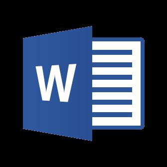 Microsoft Word icon.