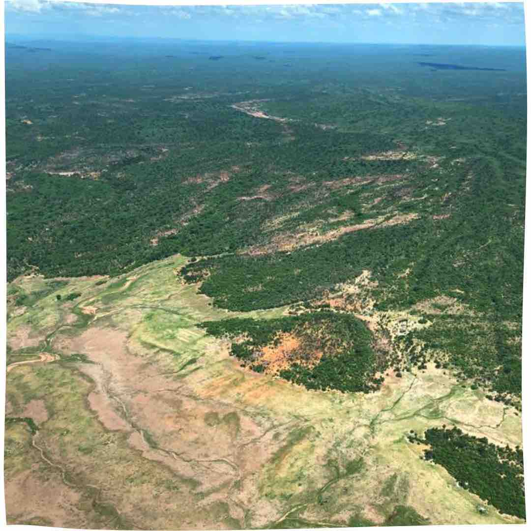 Helicopter view of Zambezi Valley