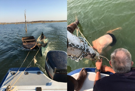 Removal of fishing nets and old boats