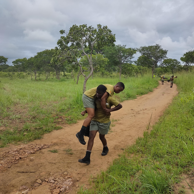 Rangers training in the field