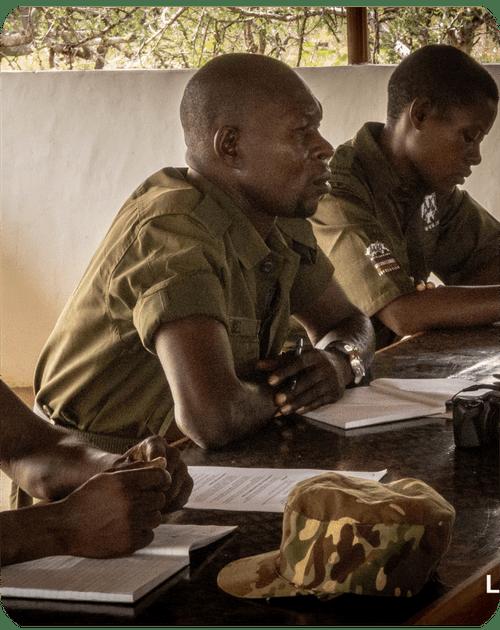 Lead Rangers studying