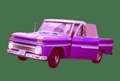 Voiture Miniature Violette