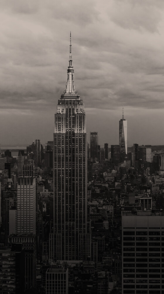New York City skyline with the Empire State Building front and center