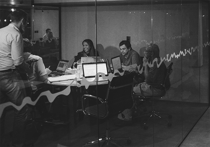 open innovation team working on fintech projects