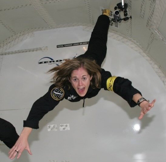 Brooke Owens on a parabolic flight. Image credit: Brooke Owens Fellowship Program